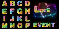 Fantasía diversión letras y números de material de vectores
