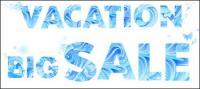 Été de lettres matérielles de vecteur bleue