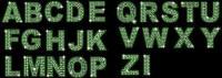 ダイヤモンド英語とデジタルのベクター素材 (緑)