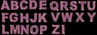 ダイヤモンド英語とデジタルのベクター素材 (ピンク紫)