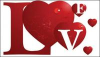 Amor especial de material de vectores
