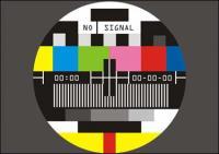 Tela de TV não Sinalizar vector material