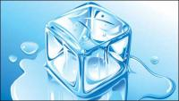 น้ำแข็งที่สมจริงเวกเตอร์วัสดุ