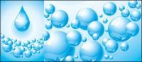 Vector de textura de burbujas material droplet