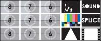 Material de vector de pantalla de TV prueba