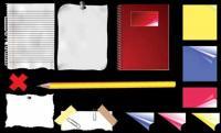 Vector de material de papelería