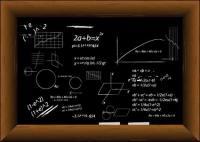 Pizarra fórmula vector llenos de material