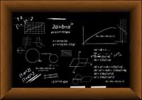 Quadro-negro fórmula vector preenchido com material