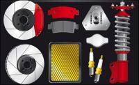 Auto-Teile-Vektor-material