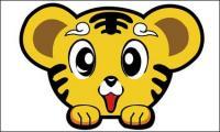 Cute sedikit harimau-kepala materi