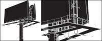 屋外看板空間ベクトル材料
