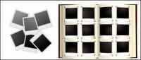 Álbumes de fotos Polaroid de vectores de material