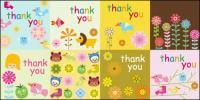 Gracias Super Linda tarjeta vector material