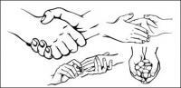 Geste utile matériel de vecteur (2)