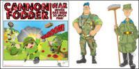 Vector de soldado de dibujos animados