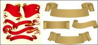Вектор ленты и бумажных материалов