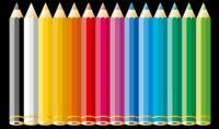 Цветной карандаш векторного материала