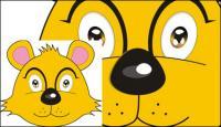 Bear fox vecteur de tête