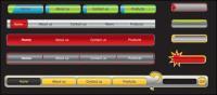 Matériau de vecteur Web design navigation menu