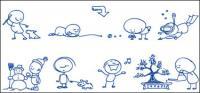 ボール ポイント ペンの漫画の描画ベクトル材料-2