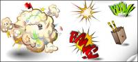 Cartoon vector elementos comunes con el material