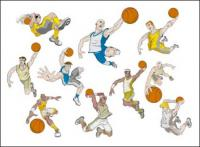 Basketball Cartoon Charakter-Vektor-material
