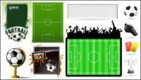 Matériau de thème vecteur de football
