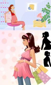 Matériau de mode vecteur maternité