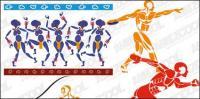 4 スポーツ数字素材をベクトルします。