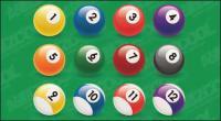 Material de vectores número de bolas de billar