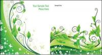 Material vegetal de vector verde ratán