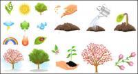 Matériel végétal arbres vecteur