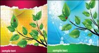 Лист ladybug тема векторного материала