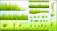 緑の芝生のベクター素材