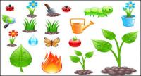 Thema Gem�severmehrungsmaterial Vektor