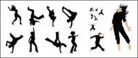 Matériel de vecteur de personnes dansant