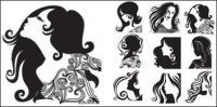 女性の頭のパターン ベクトル材料