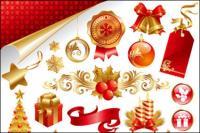 Hermoso Vector final material de Navidad
