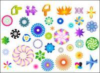 다채로운 회전 패턴 벡터 자료