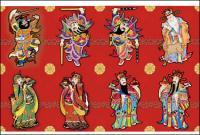 ベクトル中国の新しい年の幸運