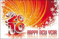 New Year 2010 background vector of material
