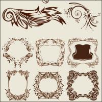 Элегантные классические декоративные модели векторов