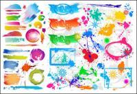 Matériau de vecteur de peinture coloré