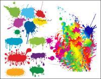 Краска падает граффити векторного материала