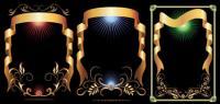 5 золотых лента шаблон векторного материала