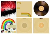 Material de vectores de tema musical