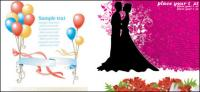 Marriage theme vector of material