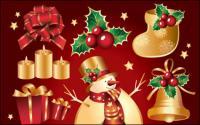 Golden Christmas Element Vektor des Materials