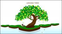 Желаем дерево векторного материала