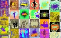 105 Elementos de design de vetor dos modelos de tendência